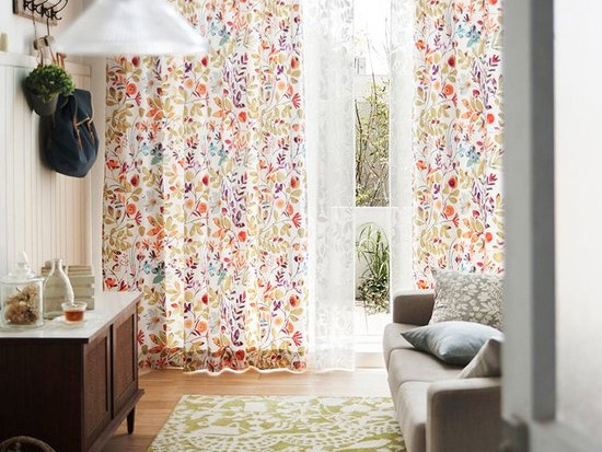 Flowerbed order curtain